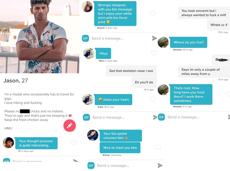 Tinder Experiment Male Model
